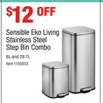 Stainless Steel Step Bin Combo (29.7L & 9L) by Eco Living $47.99 (was $59.99) @ Costco (Membership Required)