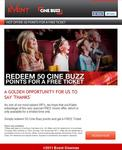 Event Cinemas 50 Points to See a Free Movie - It's Back!