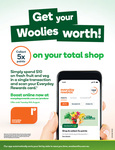 Earn 5x Points on Total Shop with $10 Spend on Fresh Fruit & Veg @ Woolworths Rewards (Activation Required)