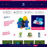 ~85% off T20 World Cup Apparel (e.g. Adults Spray Jacket $10, OOS) + $10 Delivery @ ICC T20 World Cup Shop