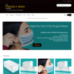 Premium Surgical 3-Ply Face Masks 10% off: 500pc $256.50, 200pc $117 Delivered, 50pc $31.46+Delivery @ The Friendly Mask Company