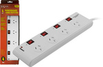 4-Way Individual Switched Surge Protector Board - $5 Radio Parts