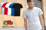 $39 for Five  Men's Fruit of The Loom Cotton T-Shirts, Delivery Included