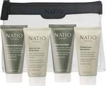 Natio Travel Gift Set (Shave Gel, Body Wash, Face Wash, Moisturiser) $16.06 @ Myer