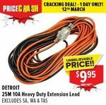 Detroit 25m 10A Extension Lead $9.95 + Delivery (Free C&C) @ Total Tools (Excludes SA, WA, TAS)