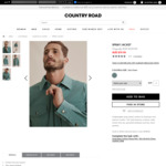 Extra 20% off Sales: e.g. Men's Spray Jacket $63.96 (Was $159) Delivered @ Country Road