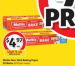 ½ Price Multix Baking Paper 50m $4.97, Ziploc Snack Bags 60 Pack or Sandwich Bags 50 Pack $2 @ Coles
