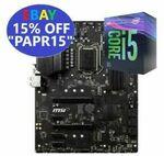 Intel Core i5-9400F CPU + MSI Z390 PLUS LGA1551 ATX Motherboard Combo $269.45 Delivered @ Futu Online eBay
