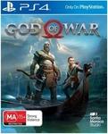 [PS4] God of War $10, Marvel's Spider-Man $17 @ Harvey Norman