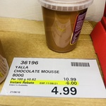 [NSW] Yalla Chocolate Mousse 800g $4.99 (Was $10.99) @ Costco Marsden Park (Membership Required)