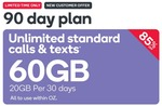 Kogan Prepaid Mobile 90 Days 60GB $14.90 (Port Over Only), 30 Days 40GB $4.90 (New Customers Only) @ Kogan