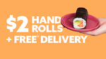 $2 Handrolls | Free Delivery (Minimum $10 Order) @ Sushi Sushi via Menulog