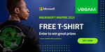 Free T-Shirt for Microsoft Inspire 2021 Event (Business Email Required) @ Veeam