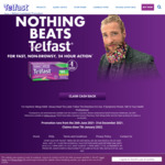 $5/$6/$7 Cashback When You Purchase Telfast 180mg 50s/60s/70s @ Participating Retail Outlet