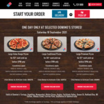 [QLD] Value Range Pizza $3, Traditional Pizza $5, Premium Pizza $7 Pick up @ Domino's (Selected Brisbane Stores)