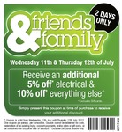 Harris Scarfe Friends and Family - 5% off Electrical, 10% off Everything Else