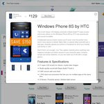 14 Hour Online EOFY Offer: Save $150 on Pre-Paid HTC Windows Phone 8S Now Only $129 from Telstra