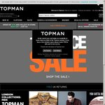 TOPMAN Half Price Sale Is on Again - Socks from £1, Jeans from £6, Chinos from £12 etc