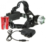 CREE T6 1600 Lumens Bicycle Led Headlamp 2 Batteries USD $13.99 Delievered from Banggood.com