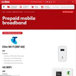 Telstra 4G Wi-Fi Modem Prepaid $59 @Coles