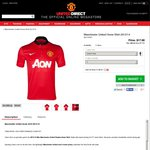 Manchester United Home Shirt 2013/14 - XL and 2XL - $30.92 Delivered