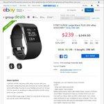 Dick Smith eBay Group Deals: Fitbit Surge Large Black + Bonus $50 eBay Voucher $239