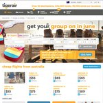 Tigerair - 30% off Light Fares