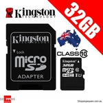 Kingston 32GB Micro SDHC Class 10 $13.95, Samsung EVO 64GB $28.95 @ Shopping Square