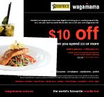 Wagamama Voucher for $10