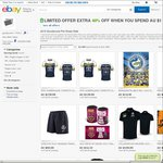 40% off All Clothing & Merch Including Official AFL & NRL Gear - eBay Store Only