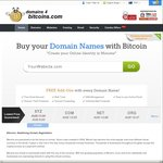 $0.03 .xyz Domain Names @ Domains 4 Bitcoins