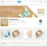 33% OFF Storewide (Long Weekend Offer) on All Our Handmade Paper Goods @ PaperPaperStore
