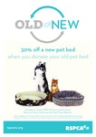 Donate Your Old Pet Bed and Receive 30% off a New Bed @ RSPCA VIC