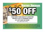 $50 off Computer Products over $100 at Harvey Norman (NSW Metro Only)