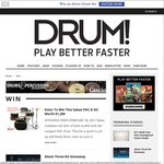 Win a Sakae PAC-D 4-Piece Drum Kit Worth Over $1,600 from DRUM! Magazine