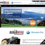Free Wi-Fi Router Rental in Japan for 15 Days 1GB/Day Download (Pick up from Shizuoka City)
