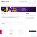 [Sydney] - Aladdin The Musical Tickets for $60 Each Ticketmaster