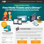 ESET Mother's Day Special - Free Movie Tickets with Purchase of Internet Security for Family (from $84.95)