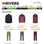 Rivers Hot Deals: over 60% off Selected Winter Clothing and Accessories