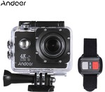 Andoer AN4000 4K 30fps 16MP Wi-Fi Action Sports Camera US $32.99 (~AU $44.87) + Free Shipping (Was $51.67 Ex.ship) @ Tom Top