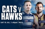 Geelong Cats V Hawthorn Tickets from $15 at MCG Melbourne - 15 July 2017 - 40% off All Tickets Groupon AU