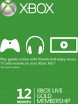 Xbox Live Gold 12 Month Membership $51.67 at Cdkeys with Facebook Like ($54.39 without)