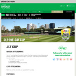 Free JLT Cup (Domestic One Day Cricket Series) Entry [PER/SYD/HOB]
