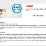 Free Farmhouse Gold Yoghurt 150g at Coles