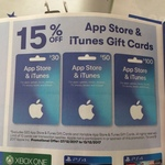 15% off App Store & iTunes Gift Cards @ Big W