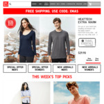 Pre-Xmas Sale: Free Shipping on All Orders: Men's Trunks from $4.95, Cotton T-Shirt Starts from $9.90 & More @ Uniqlo