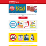 10,000 Flybuys Points if Spend $50 or More Each Week for Four Weeks @ Coles