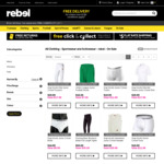 Rebel Sale - Extra 30% off Clothing on Sale, 40% off Bikes, 30% off All Cricket + Lots More @ Rebel Sport
