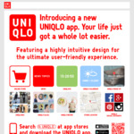 $10 off $50 Min Spend In-Store with Uniqlo AU App Download