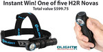 Instantly Win One of Five Olight H2R Nova Headlamps (Total Value $599.75) from Olight